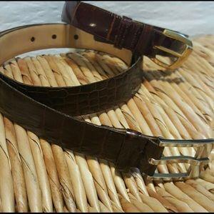 Alligator & Crocodile Italian Belts